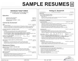 resumes university career services sample resumes