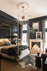 black bedroom. Use A Glamorous Golden Bedframe To Contrast With The Dark Walls In Your Black Bedroom. Pair Bed Frame Decor That Features Accent. Bedroom
