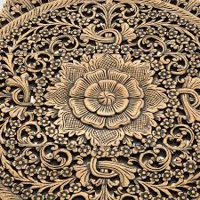 Wood Carved Wall Decor Rustic Carved Wall Art Panel Asian Home Decor Siam Sawadee