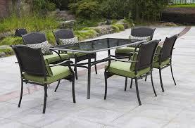 com providence 7 piece patio dining set green seats 6