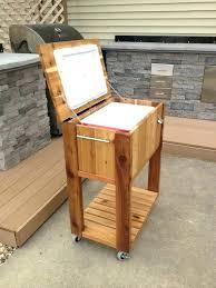 rolling cooler cart patio permasteel