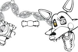 Coloring Pages Of Mangle And Foxy Page Bright Modern Y X Path Fixed