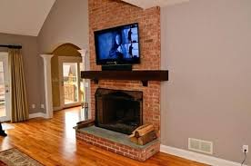 mounting a tv over a brick fireplace mounting over brick fireplace home design ideas install tv