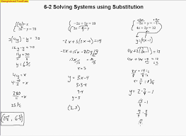 6 2 solving systems using substitution day 1