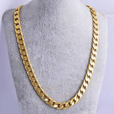 gold 7mm chunky ring flat curb chain solid womens mens necklace jewellery gift