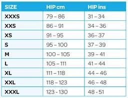 Size Chart Impactwear International Lllp
