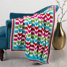 Red Heart Patterns Amazing Pulled Taffy Blanket Red Heart