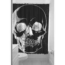 Skull Bedroom Curtains Anatomical Skull Shower Curtain Sin In Linen