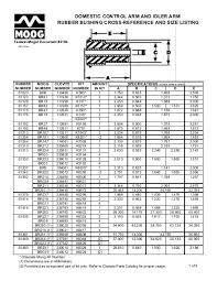 Rubber Bushing Size Chart 12 Exact Moog Control Arm Bushing Size Chart