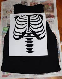 Skeleton Design T Shirt Diy Skeleton Shirt Diy Shirt Diy Fashion Diy Clothes