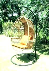 wicker swing chair with stand swings hanging egg outdoor basket rattan rocking chairs hammock
