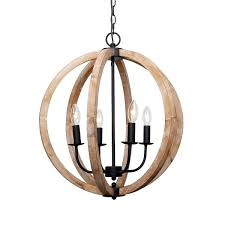 antique 4 light distressed wood orb chandelier white