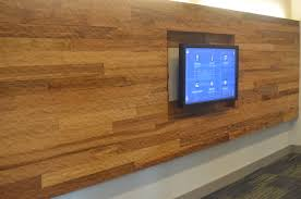 sandblasted wood wall reclaimed
