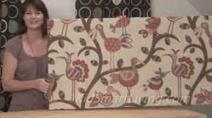 fabric panel wall art diy. how to make fabric wall art panels home decorating diy project - youtube panel diy
