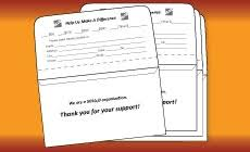 Donation Envelope Not For Profit Printing Discounted Printing For Nonprofit