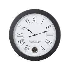 antique black pendulum wall clock