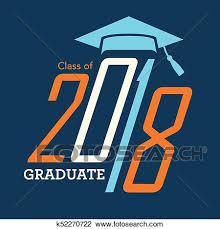 congratulations to graduate clipart of class of 2018 congratulations graduate typography