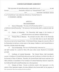 Free Business Partnership Agreement Template Business