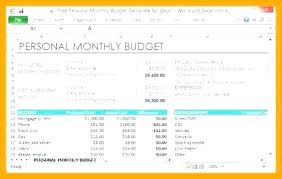 Sample Personal Budget Excel Template Monthly Xls