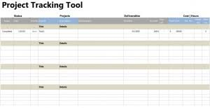Tracking Tools In Excel Project Tracker Tool