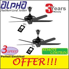 alpha cosa 56 inch ceiling fan 5 blades 3 years motor warranty