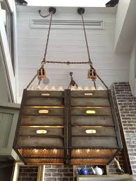 industrial chic lighting. PlanksUSA Custom Lighting Fixture At The Fat Cow LA Industrial Chic