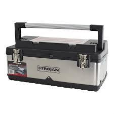 steel storage box. trojan 580mm stainless steel tool box with tote storage p