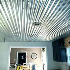 most corrugated steel ceiling garage how install metal roofing ceilings place