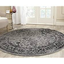 round floor rugs safavieh adirondack collection adr109b grey and black oriental vintage distressed round area rug
