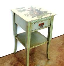 vintage side tables side tablessmall vintage side table painted lamp furniture hand round coffee