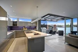 Image Prospecttube View In Gallery Floatinghomesinteriorsmodernkitchenjpg Leanenginecom Floating Home Interiors For West Coast Living