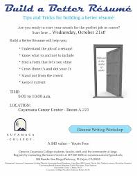 Return to Event Calendar Resume Writing Workshop Flyer