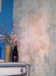 Faux wall finish. Works beautifully with the distressed furniture and new  Anthropologie look-a