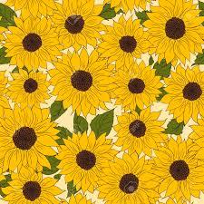 Sunflower Pattern Unique Hand Drawn Pattern Of Sunflowers Background Flower Sunflower