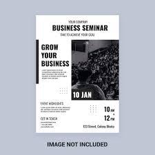 Seminar Design Template Black And White Business Seminar Flyer Template Download