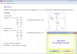 solution for a question from year 9 interactive maths chapter 4 linear graphs
