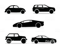 車のシルエット デザイン イラストシルエット スタイルのデザインを設定