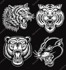 тату эскизы черно белые животные черно белые руки Drawn стиль