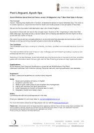 Resume Lifeguard Head Job Description Samples Points Skills Best