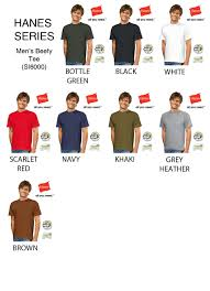 Hanes Beefy T Sizing Chart