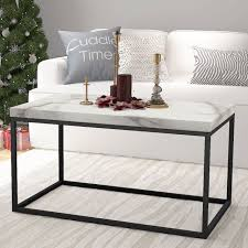 roomfitters marble print top coffee table living room essentials accent