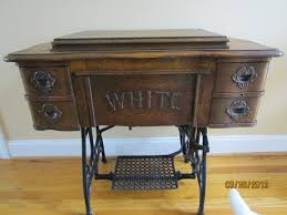 Treadle Sewing Machine Cabinet White Machines Treadle Queen
