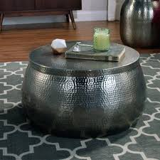 round metal drum coffee table medium size of round metal drum coffee table with design gallery