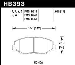 Details About Disc Brake Pad Set Lx Front Hawk Perf Hb393f 665