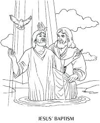 Jesus Baptism Coloring Page Beautiful Jesus Baptism Coloring Page