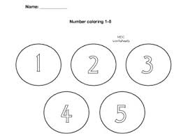 Unique patterns make up a figure of the number five for students to color in this worksheet. Number Coloring 1 5 By Happy Kids Learn Teachers Pay Teachers