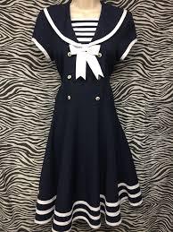 Bonnie Jean 80s Sailor Dress East Village Vintage Collective