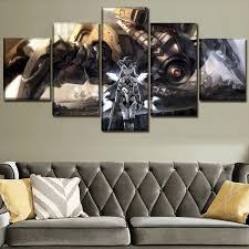 Check spelling or type a new query. 5 Pieces Anime Mech Girl 3d Wall Art Canvas Hd Print Pictures Home Decorative Living Room Painting Wish