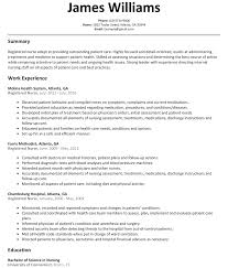 Registered Nurse Resume Examples Nursing Resume Examples With