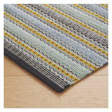 agnes blue stripe cotton rug  x cm  buy now at habitat uk